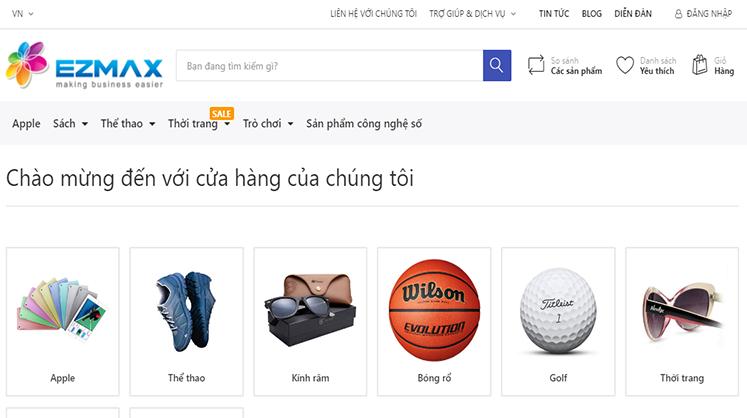 Tìm kiếm và đặt hàng theo thuộc tính sản phẩm